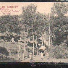 Postales: TARJETA POSTAL DE BARCELONA - VALLVIDRERA. CAMINO DE LAS FUENTES MANIGUA Y LA TEULA. A.T.V. 229. Lote 41334000