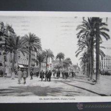 Postales: POSTAL BARCELONA. PASEO DE COLON. CIRCULADA. . Lote 41593338