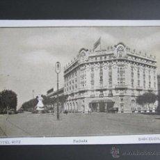 Postales: POSTAL BARCELONA. HOTEL RITZ. BARCELONA. . Lote 41594160