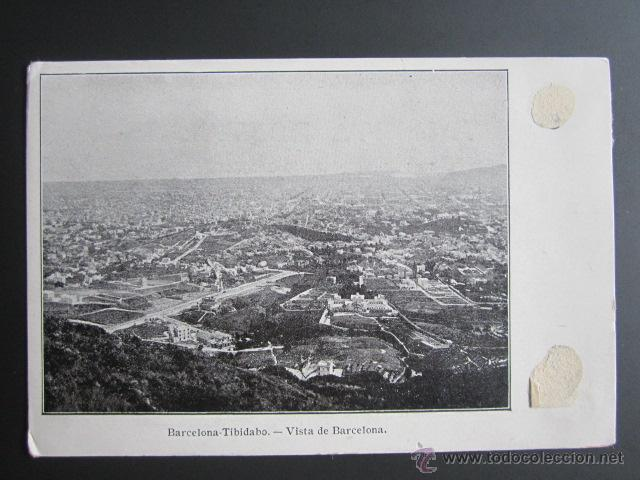 POSTAL BARCELONA. TIBIDABO. VISTA DE BARCELONA (Postales - España - Cataluña Antigua (hasta 1939))