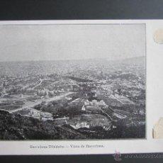 Postales: POSTAL BARCELONA. TIBIDABO. VISTA DE BARCELONA. Lote 41601833