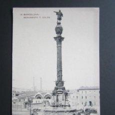 Postales: POSTAL BARCELONA. MONUMENTO A COLÓN. . Lote 41602358