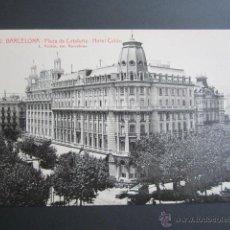 Postales: POSTAL BARCELONA. PLAZA DE CATALUÑA. HOTEL COLÓN. . Lote 41602552