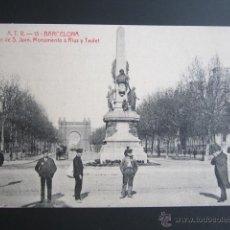 Postales: POSTAL BARCELONA. SALÓN DE SAN JUAN MONUMENTO A RIUS Y TAULET. . Lote 41603048