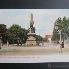 Postales: POSTAL BARCELONA. SALÓN DE SAN JUAN. MONUMENTO A RIUS TAULET. . Lote 41604205
