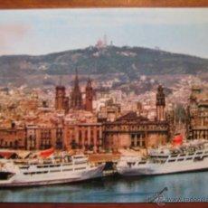 Postales: POSTAL BARCELONA - PUERTO, CATEDRAL, VIA LAYETANA, CORREOS - ZEKOWITZ Nº 2042 - CIRCULADA. Lote 41616293