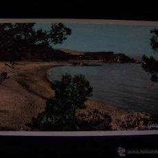 Postales: POSTAL FOTOGRÁFICA COLOREADA CIRCULADA 1955 ED R.GASSO SERIE Nº10 S`AGARO PLAYA LA CONCA COSTA BRAVA. Lote 41643321