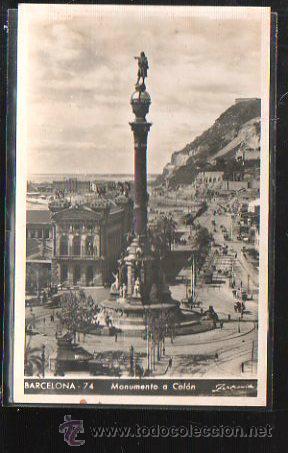 TARJETA POSTAL DE BARCELONA - MONUMENTO A COLON. 74. ZERKOWITZ (Postales - España - Cataluña Antigua (hasta 1939))