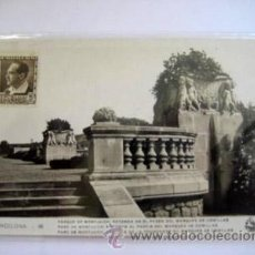 Postales: ANTIGUA POSTAL : PARQUE DE MONTJUICH: ROTONDA DEL MARQUÉS DE COMILLAS. BARCELONA. Lote 41703284