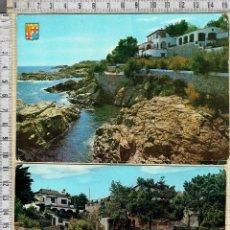 Postales: LOTE 2 POSTALES S'AGARO- COSTA BRAVA-GERONA.. Lote 41755317