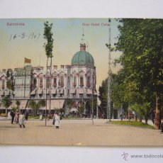 Postales: POSTAL. BARCELONA. GRAN HOTEL COLON. CIRCULADA 1909. SERIE LEON 16.. Lote 41962266