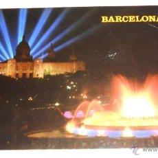 Postales: POSTAL BARCELONA. FUENTE LUMINOSA Y PALACIO NACIONAL. 1975. Lote 42029901