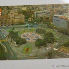 Postales: POSTAL BARCELONA. PLAZA DE CATALUÑA VISTA AÉREA. 1975. Lote 42034208