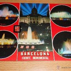 Postales: POSTAL BARCELONA FUENTE MONUMENTAL. AÑO 1976. ESCRITA. Lote 42049660