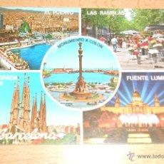 Postales: POSTAL BARCELONA VARIOS ASPECTOS. AÑO 1978. ESCRITA. Lote 42049705
