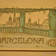 Postales: ALBUM 12 POSTALES ANTIGUAS RECUERDO DE BARCELONA. Lote 42088472