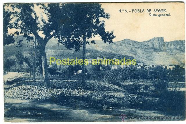 (A03934) POBLA DE SEGUR - VISTA GENERAL - THOMAS Nº5 - CIRCULADA 1908 (Postales - España - Cataluña Antigua (hasta 1939))