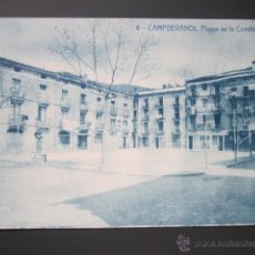 Postales: POSTAL GERONA. CAMPDEVÁNOL. PLASSA DE LA CONSTANCIA. . Lote 42382206