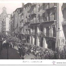 Postales: PS4186 GERONA 'AVENIDA DEL GENERALÍSIMO'. POSTAL FOTOGRÁFICA. 1948. Lote 42504363