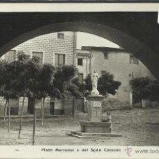 Postales: ALFORJA - PLAZA MERCADAL O DEL SGDO CORAZON - FOTOGRAFICA - (20757). Lote 42547587
