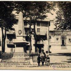 Postales: POSTAL PUIGCERDA MONUMENTO PLAZA DE LOS HEROES GIRONA CATALUNYA ED. SAUQUET N0 563. Lote 42681671