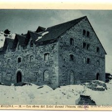 Postales: POSTAL VALL DE LA MOLINA OBRES XALET HIVERN 1924 1925 GIRONA CATALUNYA ED. CANALS N0 12. Lote 42682811