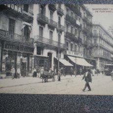 Postales: BARCELONA CALLE DE FONTANELLA POSTAL ANTIGUA . Lote 42693469
