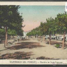 Postales: VILAFRANCA DEL PENEDES - RAMBLA DE SANT FRANCESC - ROISIN - (21145). Lote 42777764