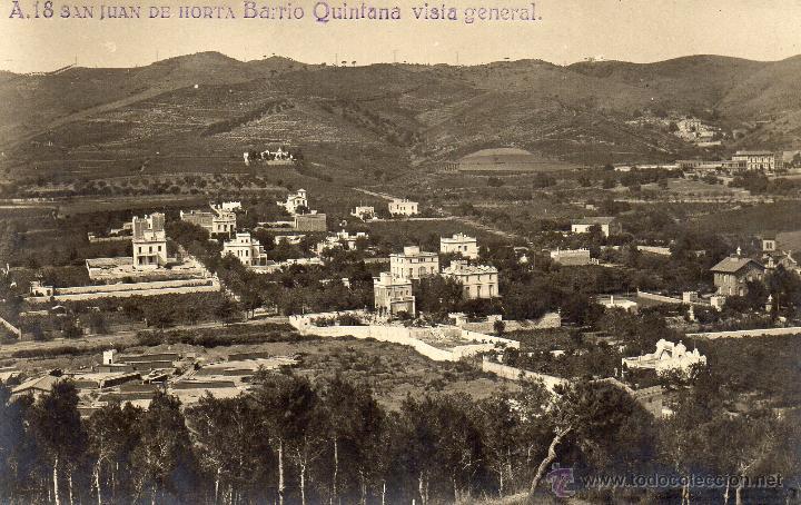 HORTA. A.18 BARRIO QUINTANA. VISTA GENERAL. FOTOGRÁFICA (Postales - España - Cataluña Antigua (hasta 1939))