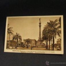 Postales: POSTAL - MONUMENTO A COLON - BARCELONA -. Lote 42863156