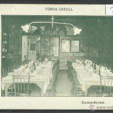 Postales: LA BISBAL - FONDA CARULL - COMEDORES - (3165). Lote 42961897
