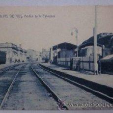 Postales: MOLINS DE REY - ANDEN DE LA ESTACION. Lote 42985080