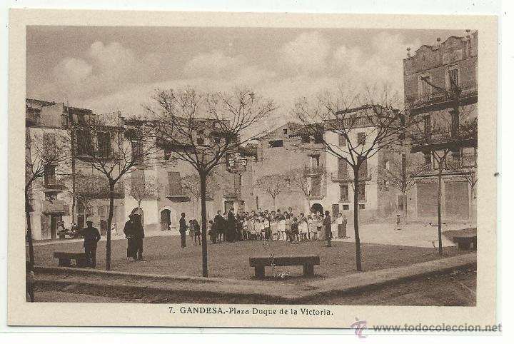 GANDESA Nº 7 .- PLAZA DUQUE DE LA VICTORIA (Postales - España - Cataluña Antigua (hasta 1939))