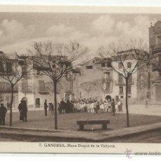 Postales: GANDESA Nº 7 .- PLAZA DUQUE DE LA VICTORIA. Lote 43006220