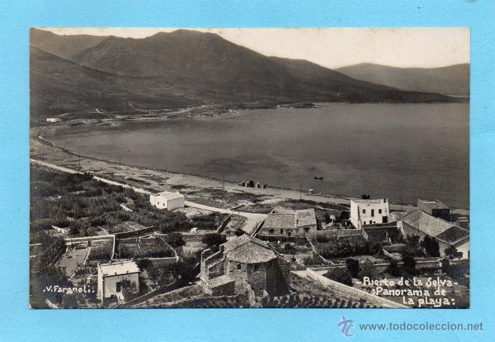 PORT DE LA SELVA. PANORAMA DE LA PLAYA. V. FARGNOLI (Postales - España - Cataluña Antigua (hasta 1939))