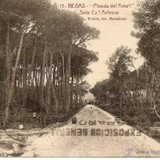 Postales: BEGAS - PINEDA DEL AMELL - SOTA CA´L ANTRUNS - CIRCULADA 1927 - L.ROISIN. Lote 43122135