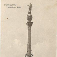Postales: BARCELONA-MONUMENTO A COLON-LIBRERIA NATIONAL Y EXTRANJERA BARCELONA-SIN CIRCULAR . Lote 43174883