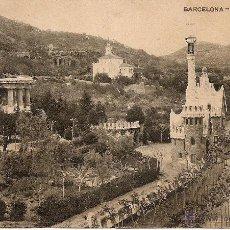 Postales: BARCELONA-PARQUE GUELL-PASA EL TRANVIA NUMERO 24-SIN CIRCULAR. Lote 43175225