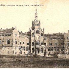 Postales: BARCELONA-HOSPITAL DE SAN PABLO-FRONTISPICIO-MISSEHS BARNA. Lote 43201175
