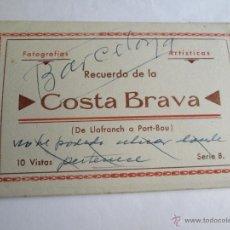 Postales: RECUERDO DE LA COSTA BRAVA 10 VISTAS EDICIONES MELI. Lote 43321969