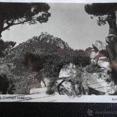 Postales: ARGENTONA (BARCELONA). CASTILLO BURRIACH. FOTO A. GÜELL. USADA. BLANCO Y NEGRO. Lote 50697920