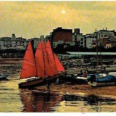Postales: POSTAL , COSTA BRAVA, GERONA, ATARDECER, CIRCULADA EN 1951 CON SELLO. Lote 43416148