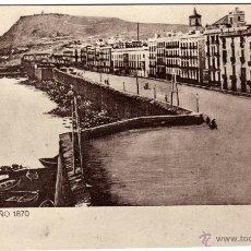 Postales: BONITA POSTAL - BARCELONA, AÑO 1870 - MURALLA DEL MAR. Lote 43493487