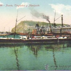 Postales: POSTAL BARCELONA - PUERTO TINGLADOS Y MONTJUICH BARCO-Nº 60 J. VENINI. Lote 43511622