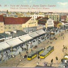 Postales: POSTAL BARCELONA -PARALELO Y NUEVO TEATRO ESPAÑOL -Nº 36 J. VENINI. Lote 43511738