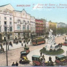 Postales: POSTAL BARCELONA -PLAZA TEATRO Y PRINCIPAL PALACE -Nº 11 J. VENINI. Lote 43511753