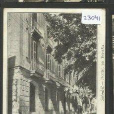 Postales: SABADELL - HOTEL DE ESPAÑA - REVERSO SIN DIVIDIR - COL·BALLUS SERIE A Nº6 - (23041). Lote 43553857
