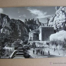 Postales: POSTAL ANTIGUA MONTSERRAT. BARCELONA. AÑO1955. CON SELLO DE FRANCO. Lote 43554160
