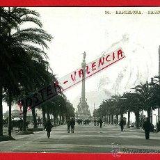 Postales: POSTAL BARCELONA , PASEO DE COLON , FOTOGRAFICA , ORIGINAL , P95143. Lote 43627121