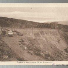Postales: POSTAL TREMP - MUR DE CONTENCIÓ EMBASSAMENT - FOTO M. SOLÉ. Lote 43649846